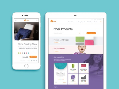 Nook Sleep Systems ecommerce mobile tablet