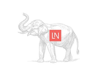 Laravel News Rebrand elephants sketch branding laravel