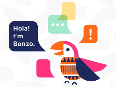 Bonzo learning app language spanish bird branding webapp edtech education