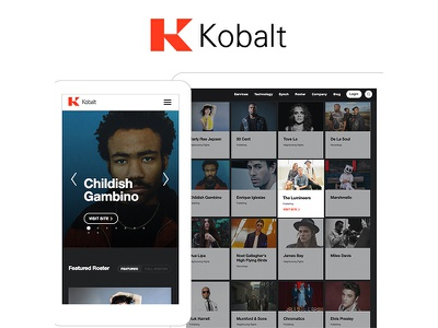 Kobalt Music Website Design design bands music app web design web development craft cms user experience