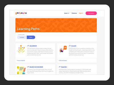 Garbanzo edtech design craftcms case study craft cms web development user experience education