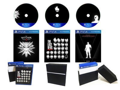 PS4 Black Box set nerd packaging collection ps4 photoshop metal gear last of us witcher
