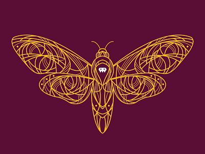 Acherontia bug illustrator symmetrical symmetry death moth moth