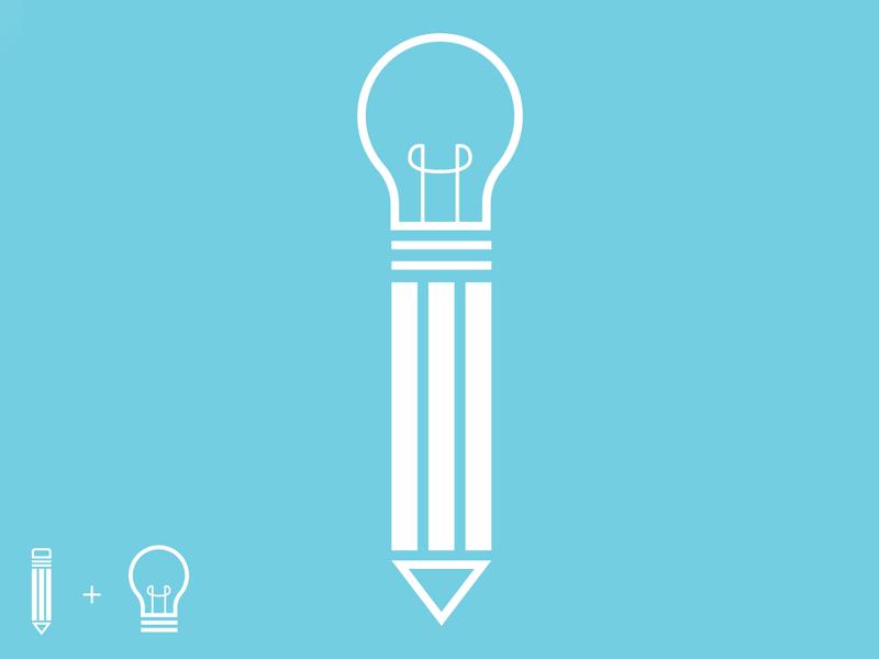 Idea To Execution minimal. create line line art idea lightbulb pencil