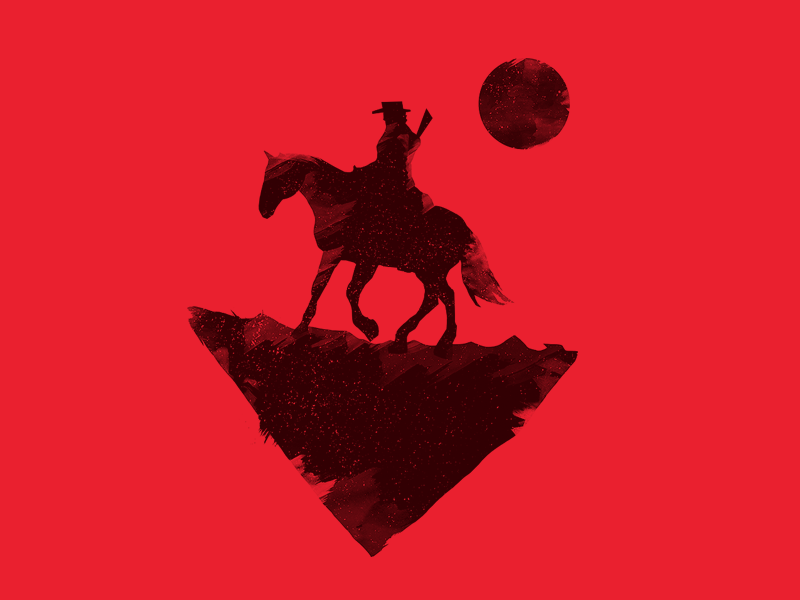 Redemption photoshop yeehaw horse grit red black red dead cowboy