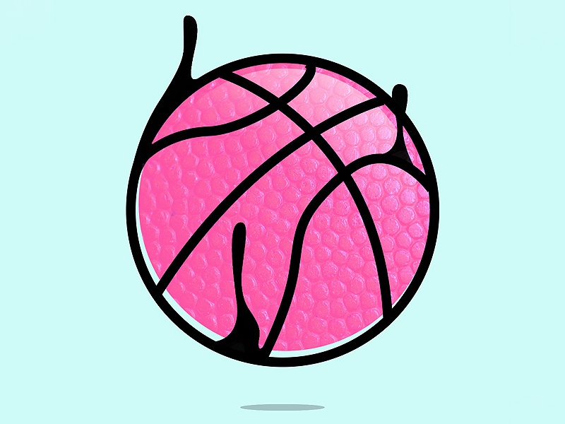 Dribbble Drip drip line pink icon dribbble ball invite