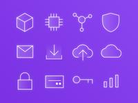 Blockchain & Tech Icons