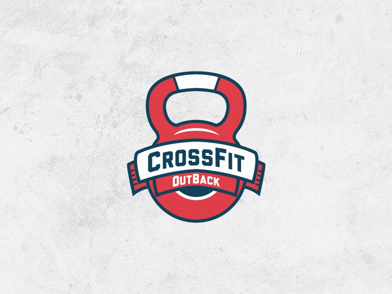 Crossfit Logo crossfit logo strength kettlebell weight outback out back gym strong