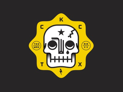 Curb Killer Crew badge vector flat illustration design
