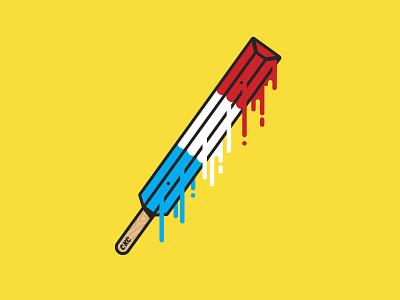 Curb Killer Crew Bomb Pop scorcher summer illustration vector skateboarding