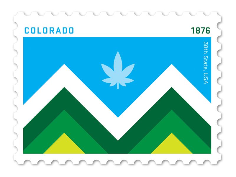 Colorado Stamp By Brett Stiles