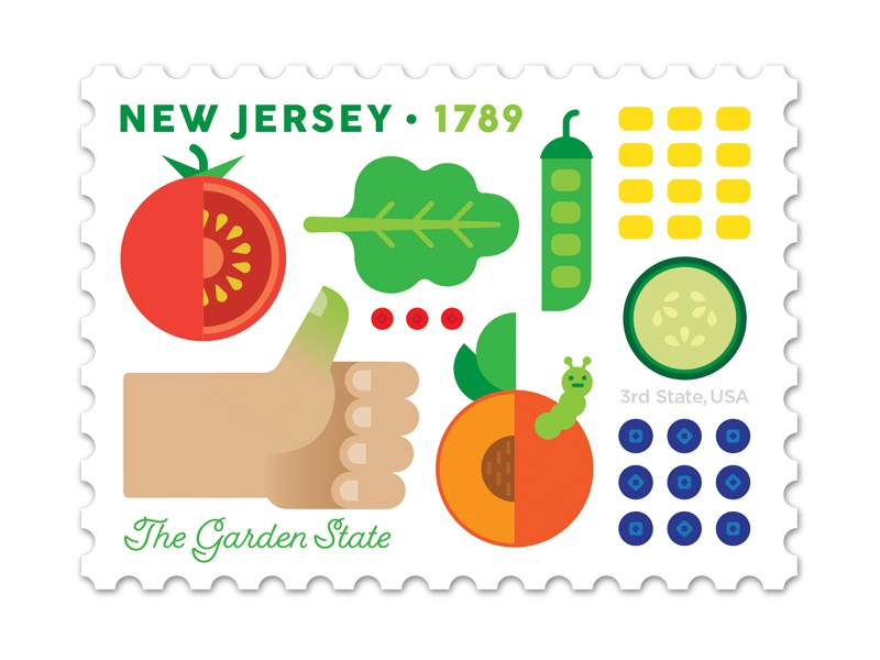 New Jersey Stamp Dribbble