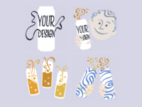 Illustrations for custom beer company Eliqs
