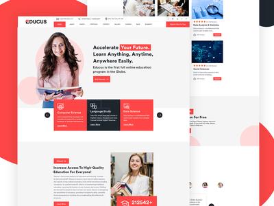 Education Website Homepage Design