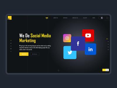Hero design for Social Media Marketing agency