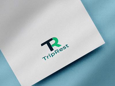 'TripRest'- A luxurious five star hotel. typography vector icon design illustration branding design hotel logo complete branding logodesign fullbranding brand logo full brand brand branding logo graphic design