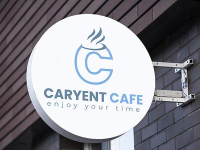 """CARYENT CAFE""- A Modern coffe shop. coffee logo logo design minimalistic minimalist logo graphic design logo illustration full brand design complete branding brand logo branding design branding brand"