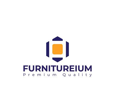 """""""FURNITUREIUM""""- A premium quality furniture company logo illustration full brand design complete branding brand logo branding design branding brand"""