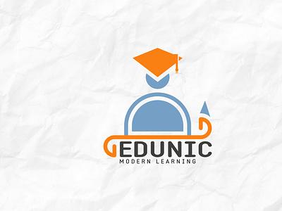 EDUNIC BRAND LOGO education logo logos illustration design full brand brand logo complete branding branding design branding brand ondigia edunic logo design logo