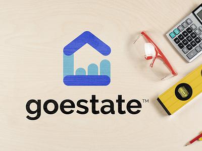 'goestate'- real estate company illustration full brand design complete branding brand logo branding design branding logo design logo brand minimalist minimal logo