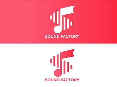 Sound Factory - Music Store Logo- Brand Logo graphic design ui design logo illustration full brand complete branding brand logo branding design branding brand logotype brandingicon identity logo website app vector