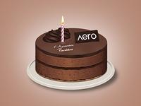 Aero birthday cake