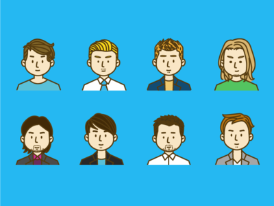 Avatar Boys avatar cartoon flat characters illustrations illustration
