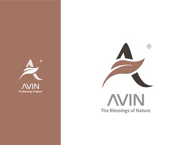 AVIN logo typogaphy logo deisgn typography brand identity branding and identity logo design diaco branding logo diacodesign