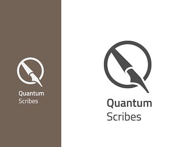 Quantum Scribes Logo design brand identity branding and identity logo design diaco branding logo diacodesign
