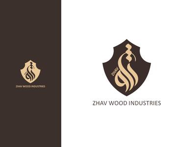 ZHAV Wood industries logo branding zhav logo deisgn wood logo diacodesign