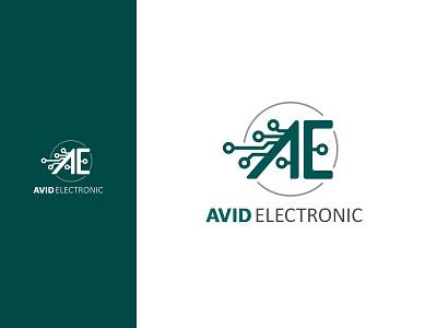 Avid Electronic logo diacodesign avid electronic branding logo design logo alphabet logo