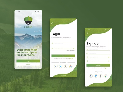 Login / Sign Up Flow sign up flow login flow sign up login dailyui design app ux ui