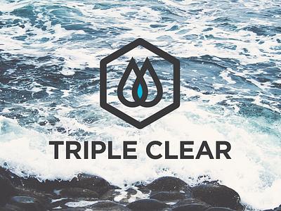 Triple Clear logo water triple