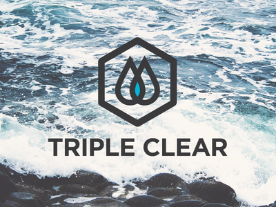 Triple Clear logo water triple