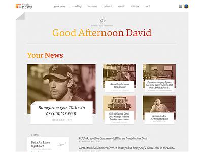 Google News Redesign Concept dynamic redesign news google