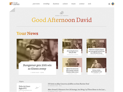 Google News Redesign Concept dynamic redesign news google
