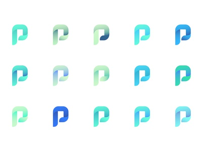 Color Exploration p energy identity brand color logo