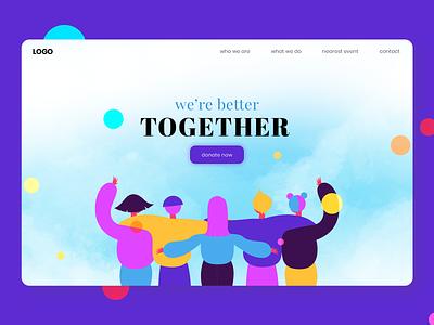Together Landing Page interface web ui ux ui ux ux ui vector clean modern web design together landing page illustration