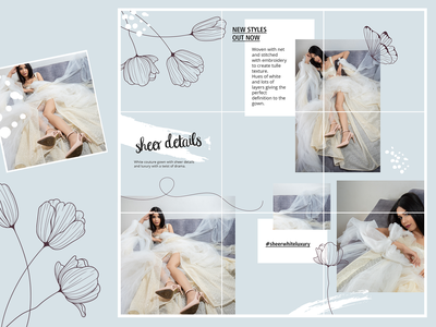 Instagram Puzzle Feed Design instagram puzzle puzzle feed feed trendy illustration vector illustrator flower instagram fashion modern
