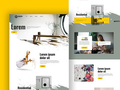 #Exploration - Paint Landing Page homepage website splash paint creative modern modern design photoshop illustrator exploration landing page ui-ux design uiux design ux ui
