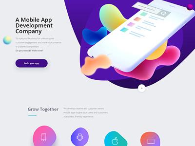 Mobile App Development ux ui web ui-ux fluid web template web design ui-ux app development mobile