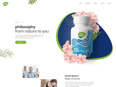 Activ Nature Homepage Design
