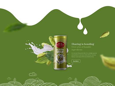 Sunvillage Website modern illustrator vector uiux ui web ui ux web design parallax elaichi product design dairy product