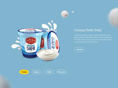 Suvillage Dairy Products vectorart contemporary modern illustration vector ui ux web design web ui ux product landing page landing page dairy product product dairy sunvillage