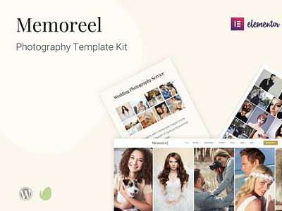 Memoreel - Elementor Pro Photography Template Kit themeforest envato template design elementor pro elementor website design wordpress web design