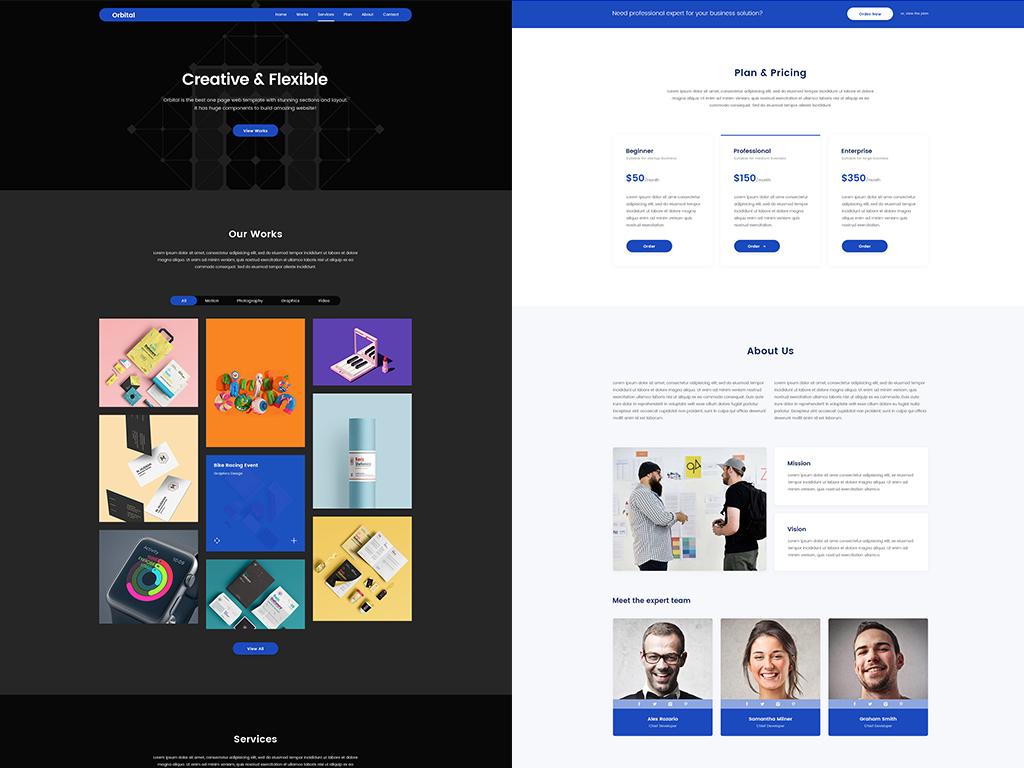 Orbital wordpress dark theme wordpress website design web design agency website wordpress theme