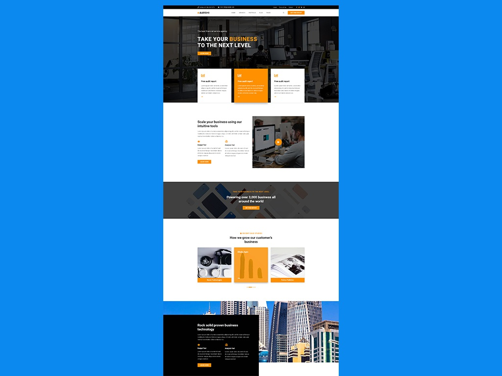 Aarshi business agency business consultancy website business website web design website design wordpress wordpress theme