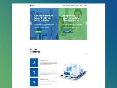 Bizon website design agency website wordpress theme business and finance analytic tool web design agency business agency business