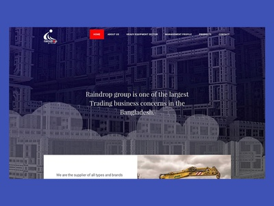 Raindrop business agency website design web design business trading business trading construction company construction