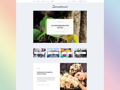 Incandescent clean blog wordpress theme website design web design wordpress